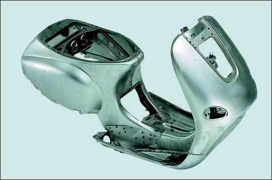 Vespa made of steel